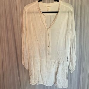H&M White Long Tunic - Size 10